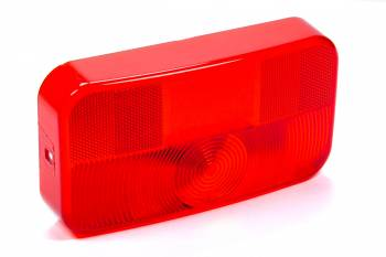 Reese Hitches - Reese Hitches Replacement Taillight Lens Red W/ License Brkt