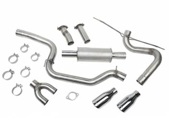 Roush Performance Parts - Roush Performance Parts Cat-Back Exhaust Kit 12-17 Ford Focus ST