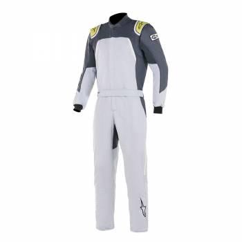 Alpinestars GP Pro Comp Suit - Silver / Blue Asphalt / Lime - Front