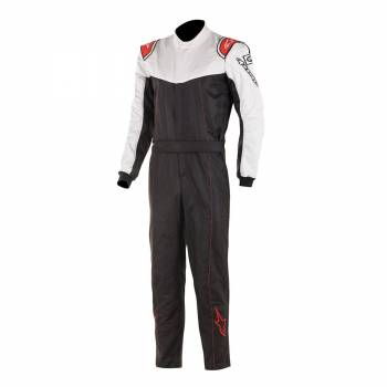 Alpinestars Stratos Race Suit - Black / White / Red - Front