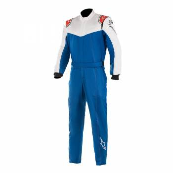 Alpinestars Stratos Race Suit - Royal Blue / White / Red - Front