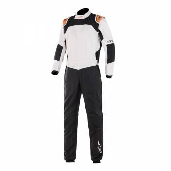 Alpinestars GP Tech V2 Suit - Black / White / Orange Fluo - Front