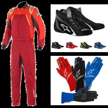 Alpinestars GP Pro Comp Suit Package - Scarlet/Red/Orange Fluo 3352119-3134PKG