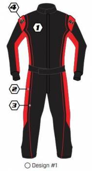K1 RaceGear - K1 Race Gear Custom Suit - Design #1