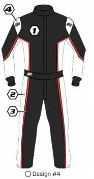 K1 RaceGear - K1 Race Gear Custom Suit - Design #4