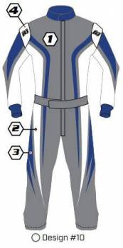 K1 RaceGear - K1 Race Gear Custom Suit - Design #10