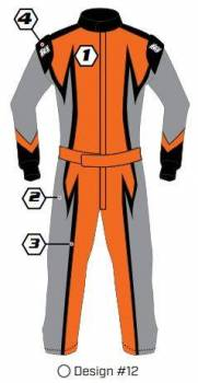 K1 RaceGear - K1 Race Gear Custom Suit - Design #12