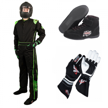 Velocity 1 Sport Suit Package - Black/Fluo Green 10118-18PKG