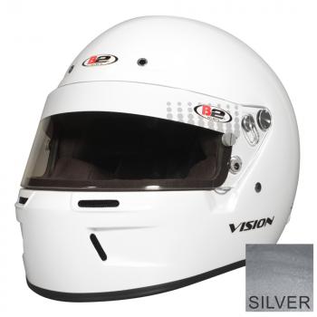 B2 Vision Helmet - Metallic Silver B2112S