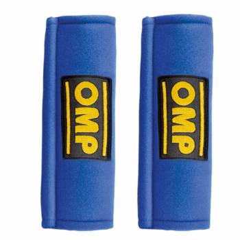 """OMP Racing - OMP Harness Pads - Blue - For 2"""" Belts"""