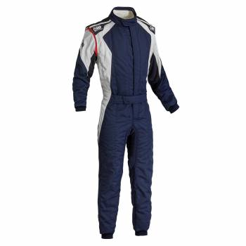 OMP Racing - OMP First Evo Suit - Navy Blue/Silver - 60