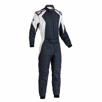 OMP Racing - OMP First Evo Suit - Black/ White - 56