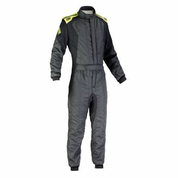 OMP Racing - OMP First Evo Suit - Anthracite/Yellow - 58