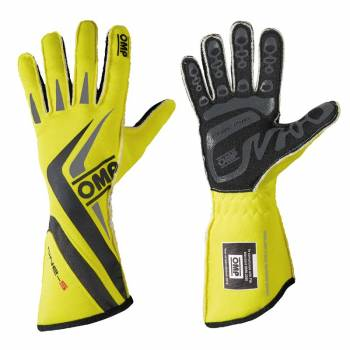 OMP Racing - OMP One-S Gloves - Fluo Yellow  - Medium