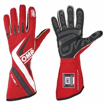 OMP Racing - OMP One-S Gloves - Red - X-Small