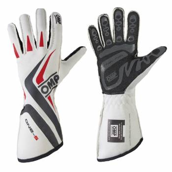 OMP Racing - OMP One-S Gloves - White - Large