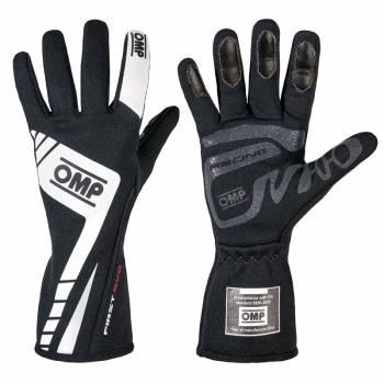 OMP Racing - OMP First Evo Gloves - Black/White  - Small