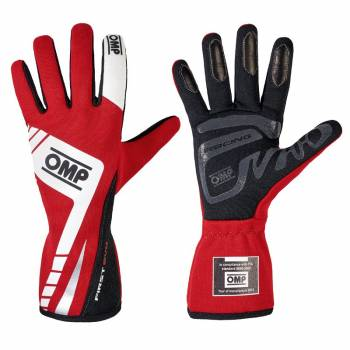 OMP Racing - OMP First Evo Gloves - Red/White - Large