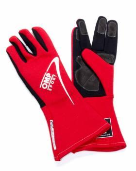 OMP Racing - OMP Sport OS 60 Gloves - Medium - Red