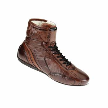 OMP Racing - OMP Carrera High Boots - Dark Brown Leather - Size 46