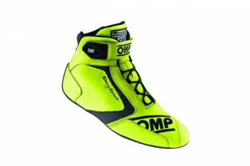 OMP Racing - OMP 40th Anniversary Shoe - Fluo Yellow - Size 7.5