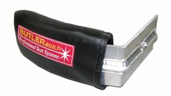 "ButlerBuilt Motorsports Equipment - ButlerBuilt Head Support w/ Support Rod - 4"" - Black - Left Side"