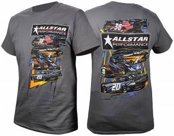 Allstar Performance - Allstar Performance Circle Track T-Shirt - Dark Gray - Medium