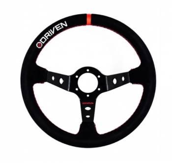 """Driven Steering Wheels - Driven Steering Wheel - 13.5"""" Diameter - Aluminum - 3-1/2"""" Dish - Suede"""