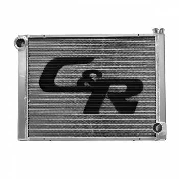 """C&R Racing - C&R Racing Double Pass Radiator - Open - 28 x 19? - 1-3/4"""" Depth High Outlet - Ford - RH Inlet / LH Outlet"""
