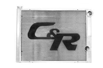 "C&R Racing - C&R Racing Double Pass Radiator - Open - 31 x 16? - 1-3/4"" Depth High Outlet - RH Inlet / RH Outlet"