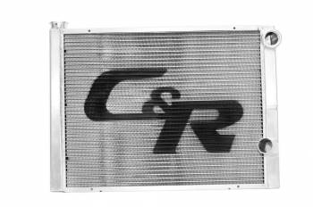 """C&R Racing - C&R Racing Double Pass Radiator - Open - 31 x 19? - 1-3/4"""" Depth High Outlet - RH Inlet / RH Outlet"""