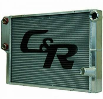 "C&R Racing - C&R Racing Double Pass Radiator w/ Heat Exchanger - Closed - 28 x 19? - 1-3/4"" Depth Low Outlet - LH Inlet / RH Outlet"