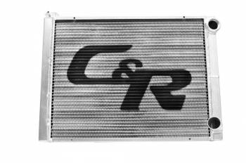 "C&R Racing - C&R Racing Single Pass Radiator - Open - 28 x 19? - 1-3/4"" Depth Low Outlet - RH Inlet / RH Outlet"