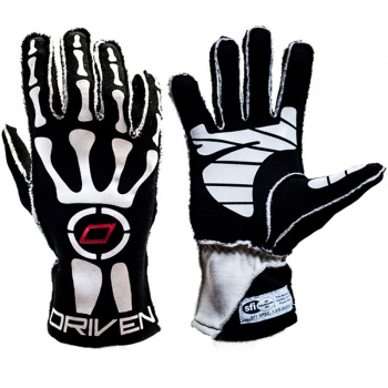 Driven Steering Wheels - Driven Skeleton Gloves - Black - Small