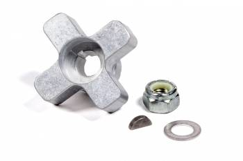 Fuel Injection Enterprises - FIE Magneto Cross Drive - Key/Nut/Washer - Aluminum - Natural - FIE / Mallory Super-Mag/Pro Mag