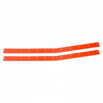Five Star Race Car Bodies - Five Star Race Car Bodies 88 MD3 Monte Carlo Wear Strips Flourescent Red