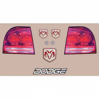 Five Star Race Car Bodies - Five Star Tail Only Graphics Kit - Dodge Charger