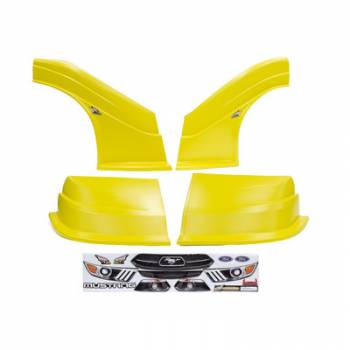 Five Star Race Car Bodies - Fivestar MD3 Evolution Nose and Fender Combo Kit - Mustang - Yellow (Flat RS Fender)