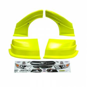 Five Star Race Car Bodies - Fivestar MD3 Evolution Nose and Fender Combo Kit - Mustang - Yellow