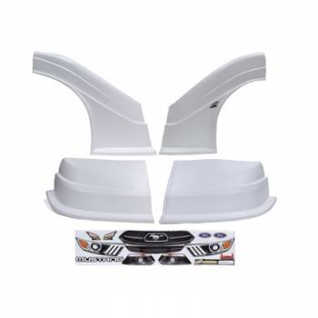 Five Star Race Car Bodies - Fivestar MD3 Evolution Nose and Fender Combo Kit - Mustang - White