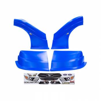 Five Star Race Car Bodies - Fivestar MD3 Evolution Nose and Fender Combo Kit - Mustang - Chevron Blue (Flat RS Fender)