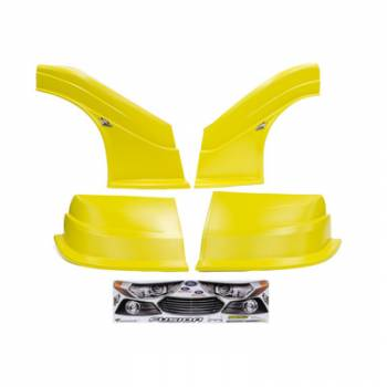 Five Star Race Car Bodies - Fivestar MD3 Evolution Nose and Fender Combo Kit - Fusion - Yellow (Flat RS Fender)