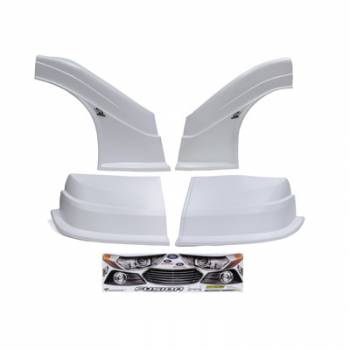 Five Star Race Car Bodies - Fivestar MD3 Evolution Nose and Fender Combo Kit - Fusion - White (Flat RS Fender)