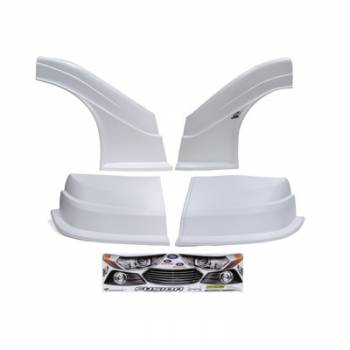 Five Star Race Car Bodies - Fivestar MD3 Evolution Nose and Fender Combo Kit - Fusion - White