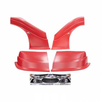 Five Star Race Car Bodies - Fivestar MD3 Evolution Nose and Fender Combo Kit - Fusion - Red (Flat RS Fender)