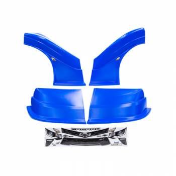 Five Star Race Car Bodies - Fivestar MD3 Evolution Nose and Fender Combo Kit - Camaro - Chevron Blue (Flat RS Fender)