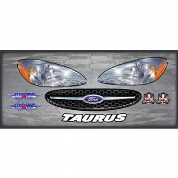 Five Star Race Car Bodies - Five Star Race Car Bodies Nose Graphics Laminated Protective Coating - Ford Taurus 2003