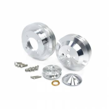 March Performance - March Performance Olds 350/455 2V 3PC Hi Flow Pulley Kit Polished