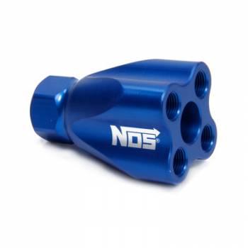 NOS - Nitrous Oxide Systems - Nitrous Oxide Systems (NOS) Showerhead Distribution Block wo/Fittings Blue