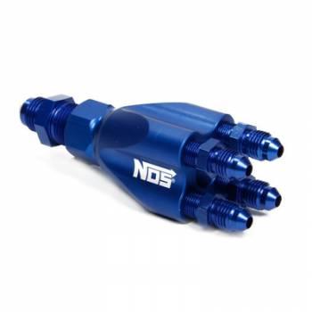 NOS - Nitrous Oxide Systems - Nitrous Oxide Systems (NOS) Showerhead Distribution Block w/Fittings Blue